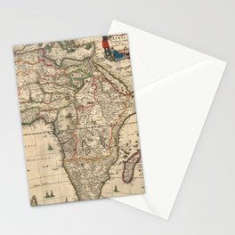Vintage Map of Africa (1689) Stationery Cards