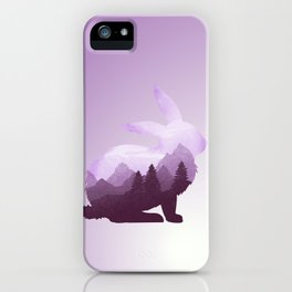Rabbit Bunny Hare Double Exposure Surreal Wildlife Animal iPhone Case