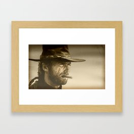 The Man With No Name Framed Art Print