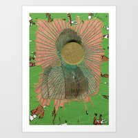 big bang Art Prints featuring Big Bang by Naomi Vona