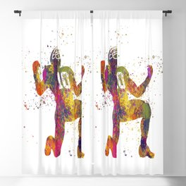 American football player in watercolor 13 Blackout Curtain