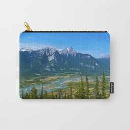 Overlooking the Athabasca River from the Morrow Peak Hike in Jasper National Park, Canada Carry-All Pouch