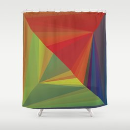 Abstract Composition 666 Shower Curtain