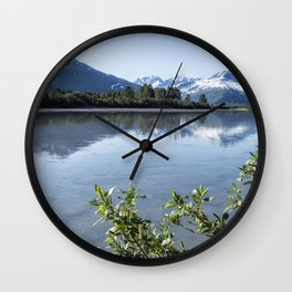 Placer River at the Bend in Turnagain Arm, No. 2 Wall Clock