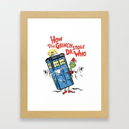 How the Grinch Stole Dr Who (on Light) Framed Art Print