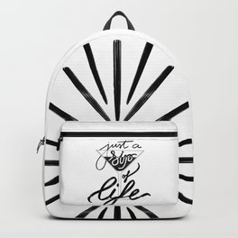 Sip of life - White Backpack