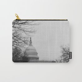 US Capitol Shrouded In Winter Gloom Carry-All Pouch