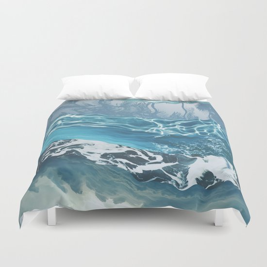 Sea abstract Duvet Cover