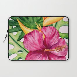 Tropical Hibiscus Summer Bouquet Laptop Sleeve