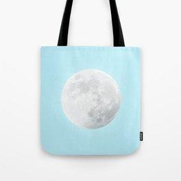 WHITE MOON + BLUE SKY Tote Bag