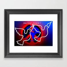 nuclear peace. Framed Art Print