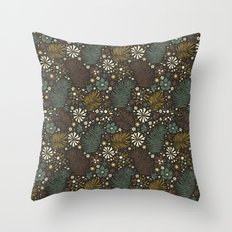 Mystical Forest (Greens) Throw Pillow