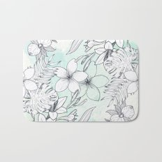 Floral Sketches Bath Mat