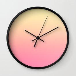 WALLFLOWER - Minimal Plain Soft Mood Color Blend Prints Wall Clock