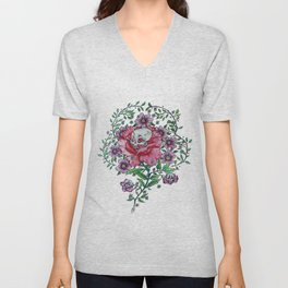 pocket full of posies Unisex V-Neck