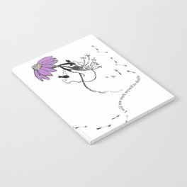 Coneflower Girl Notebook