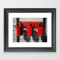 Fire Buckets Framed Art Print