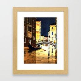 Evening In Venice Italy Framed Art Print