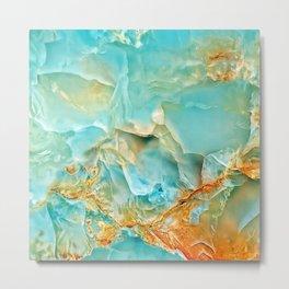 Onyx - blue and orange Metal Print