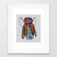 mcfly Framed Art Prints featuring Hello McFly! by mattographer