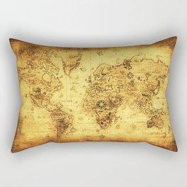 Arty Vintage Old World Map Rectangular Pillow