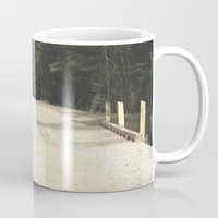 wooden Mugs featuring Wooden Bridge by Chris' Landscape Images & Designs