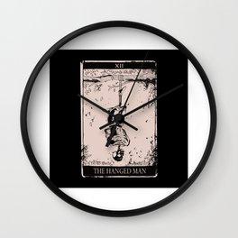 Tarot Card Occult The Hanged Man Wall Clock