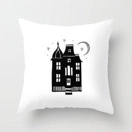 Handmade Hallow's Eve Doodle Art Design & Pattern Throw Pillow