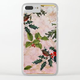 Holly and Mistletoe Clear iPhone Case