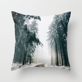 The Winter Trail (Color) Throw Pillow