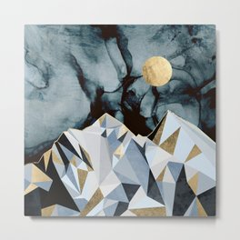 Midnight Peaks Metal Print