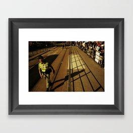 hong kong police Framed Art Print