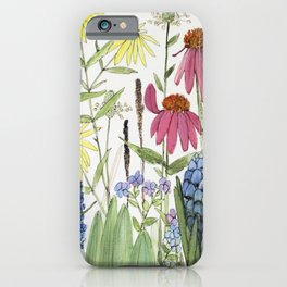 Flowers on White Painting iPhone Case