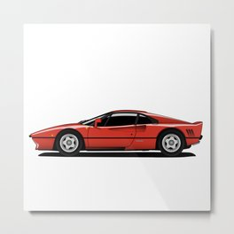 Red Sports Car Metal Print