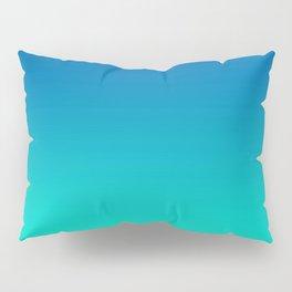 Teal Mint Ombre Pillow Sham