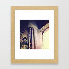 Inside the Gate. Framed Art Print