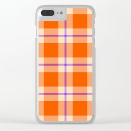 big sunny weave with a dash of purple Clear iPhone Case