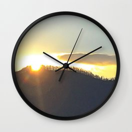Asheville Gold Wall Clock