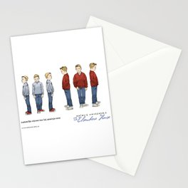 No.3 character designs for the Handlen boys, color Stationery Cards