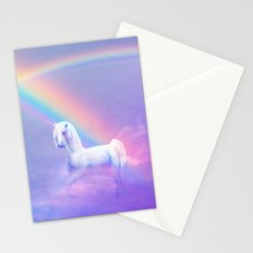 Unicorn and Rainbow Stationery Cards
