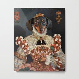 Queen Dixie - Dachshund Art Metal Print