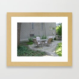 Lets Go Sit Out in The Patio Framed Art Print