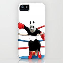 Boxing Panda iPhone Case