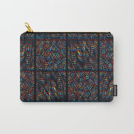total psychedelic mess pattern Carry-All Pouch