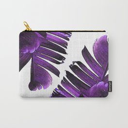 Banana Leaf - Tropical Leaf Print - Botanical Art - Modern Abstract - Violet, Lavender Carry-All Pouch