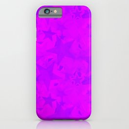 Calm intersecting blurred purple stars on a lilac background. iPhone Case
