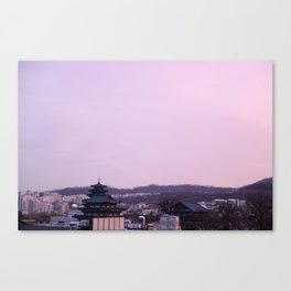 Pink Sky in Seoul Canvas Print
