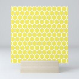 Summery Happy Yellow Honeycomb Pattern - MIX & MATCH Mini Art Print