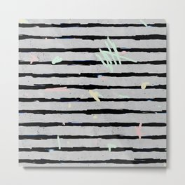 Whimsical Stripes Metal Print