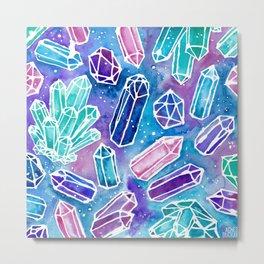 Space Crystals Metal Print